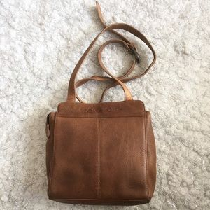 Authentic Fossil Leather Crossbody Bag